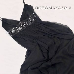 BCBGMaxazria • Chiffon & Sequin Empire Waist Gown